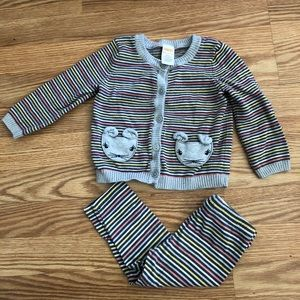 Gymboree 2 piece pants and sweater 18-24mos
